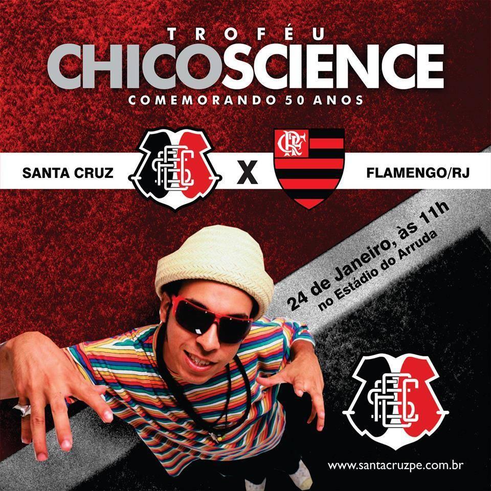 Amistoso contra o Flamengo (RJ) será válido pela segunda edição da Taça Chico Science