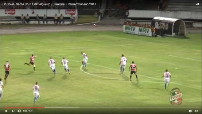 Santa Cruz 1×0 Salgueiro – Semifinal – Pernambucano 2017