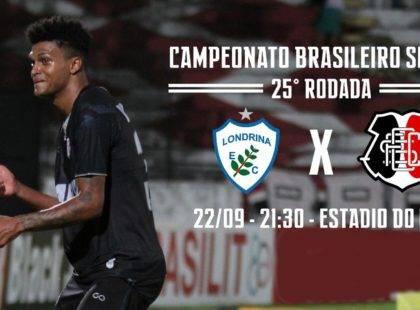 Em crescimento e de ânimo renovado, Santa Cruz enfrenta o Londrina