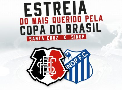 Copa do Brasil: Santa Cruz encara o Sinop/MT na primeira fase