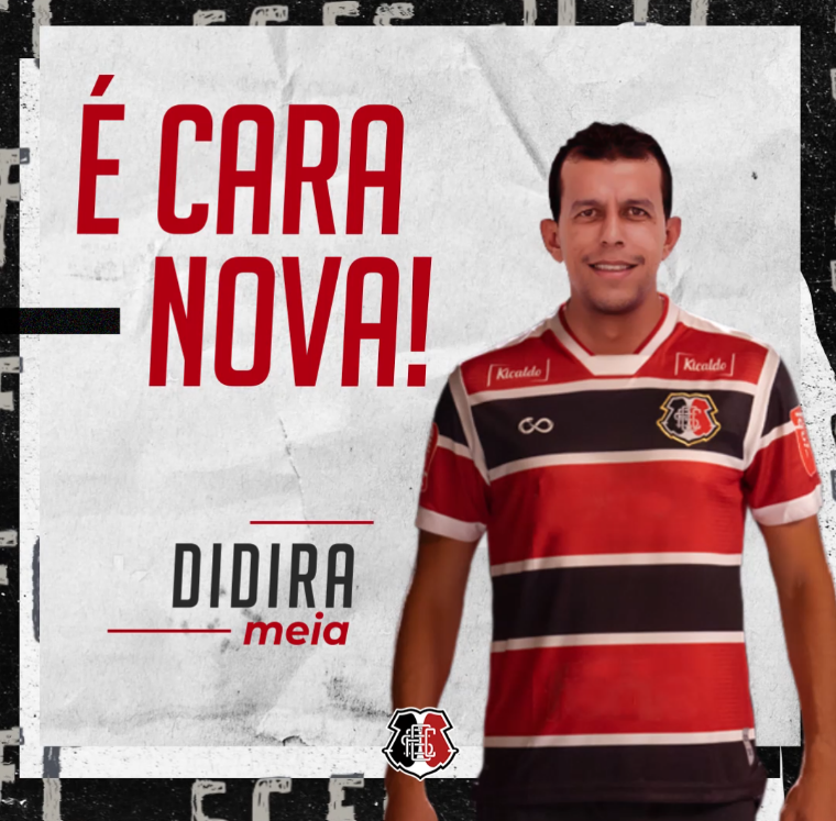 Didira é o novo meia do Santa Cruz