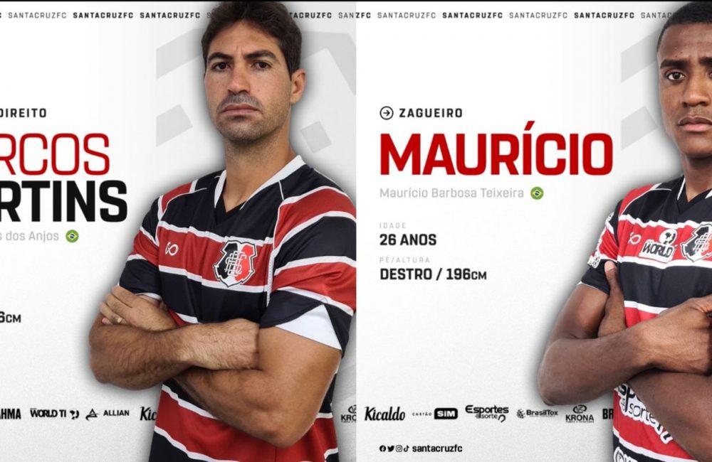 Marcos Martins e Maurício reforçam o Santa Cruz